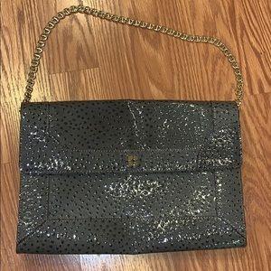 Kate spade Paola bag- embossed alligator silver
